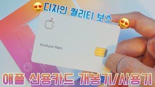 미친 디자인 퀄리티 애플 카드 개봉기/사용기