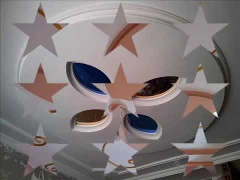 Plafond platre design 2016 youtube for Image de plafond en platre