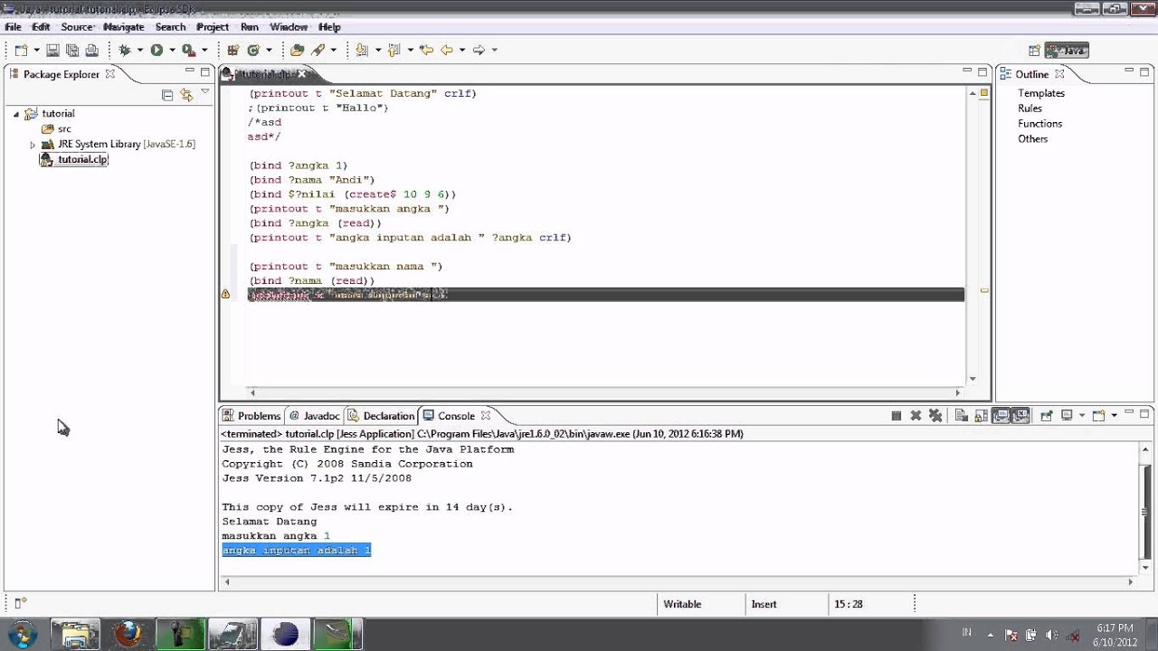 Expert System with JESS Session 2.1] Introduction to JESS - Part 1 ...