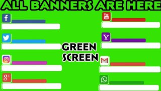 Banners | YouTube Instagram Facebook WhatsApp Green Screen