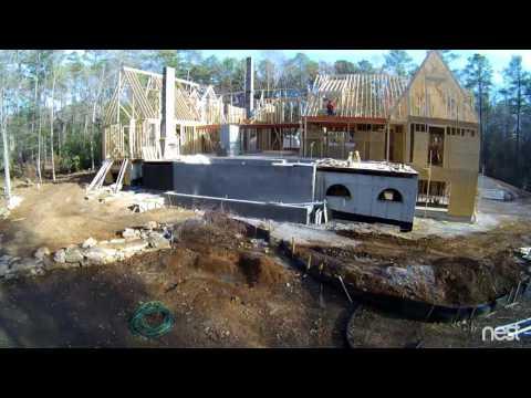 12-15-2016 Rear Tree - Framing Outdoor Grill Overhang