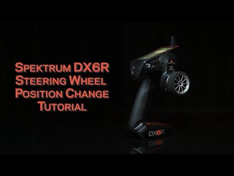 Spektrum DX6R Left Hand conversion and Steering wheel position change