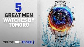 Top 10 Tomoro Men Watches [ Winter 2018 ]: Men's Military Steel Men's Quartz Clock Dual time Digital TOMORO 検索動画 50