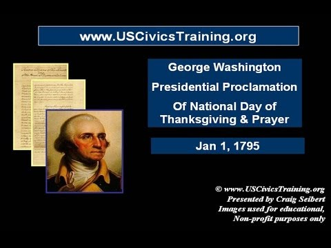 Presidential Proclamation - George Washington -  National Day of Thanksgiving and Prayer