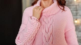 Анонс платного МК спицами - длиный свитер Оверсайз