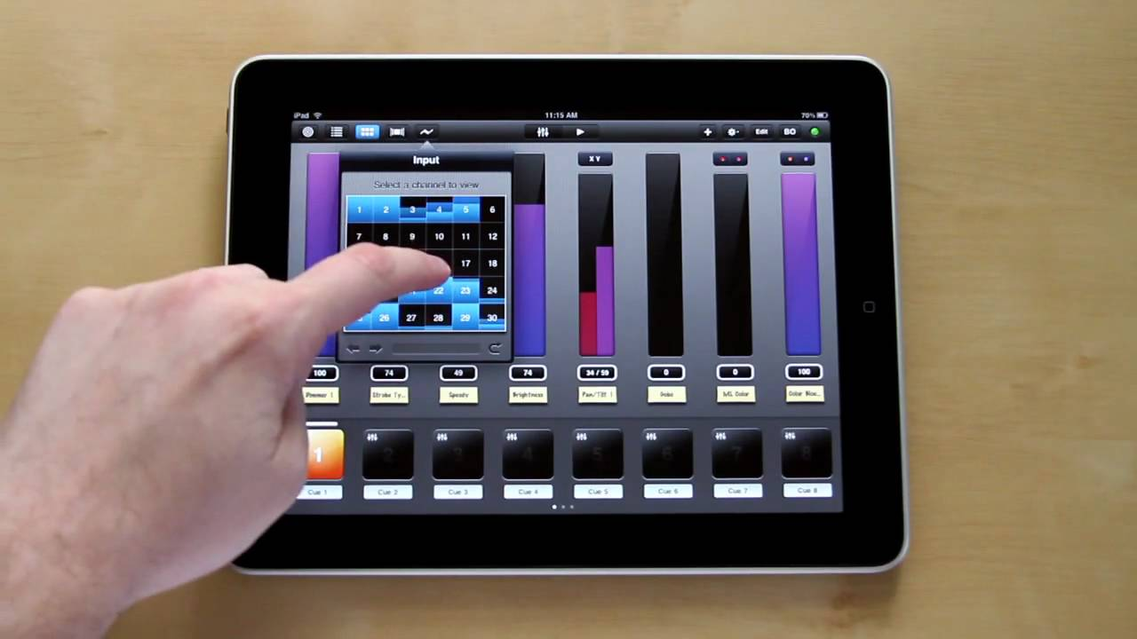 luminair for ipad multi touch dmx lighting control a quick preview youtube. Black Bedroom Furniture Sets. Home Design Ideas