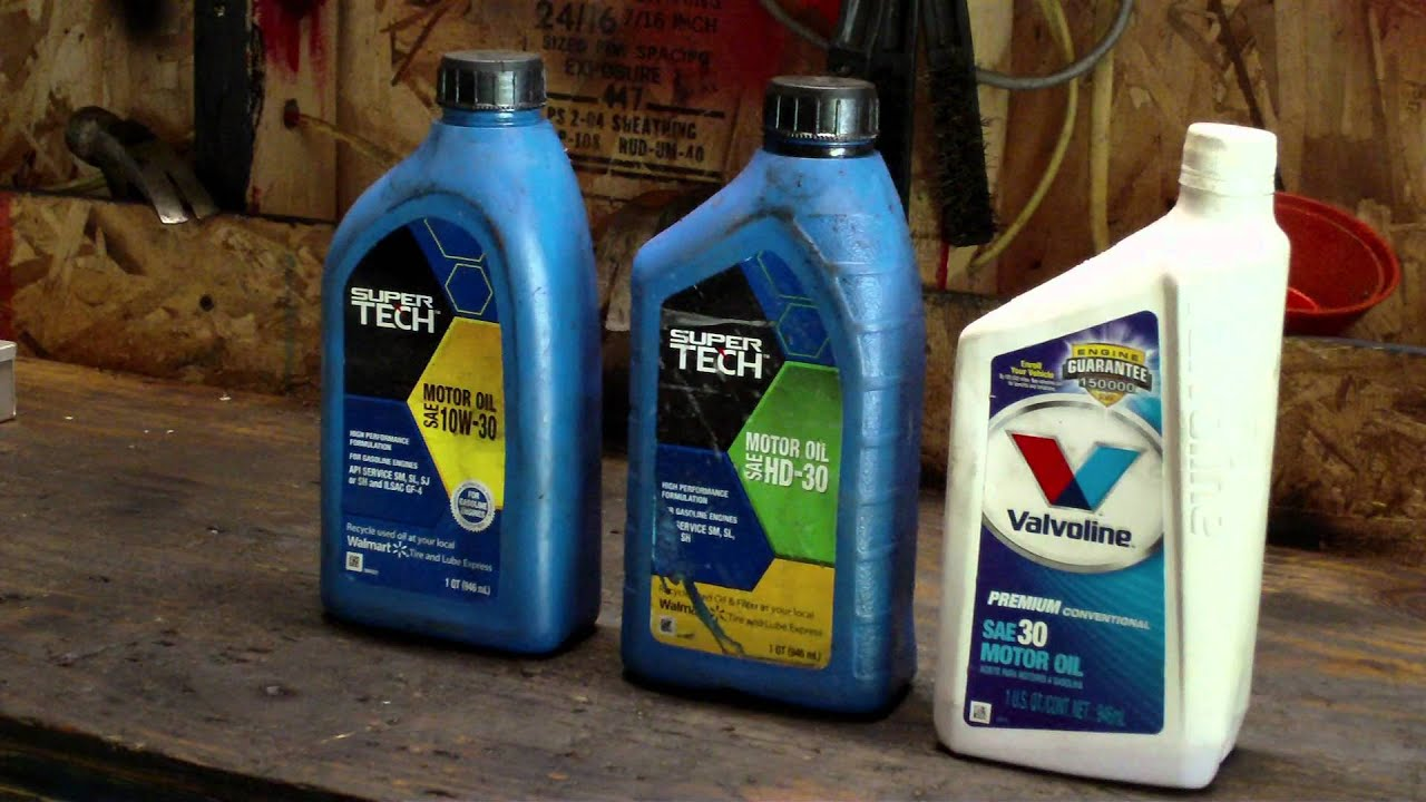 What types of oil to use in small engines (4 stroke motor oils ...