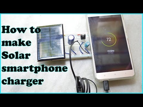 How to make Solar  smartphone charger