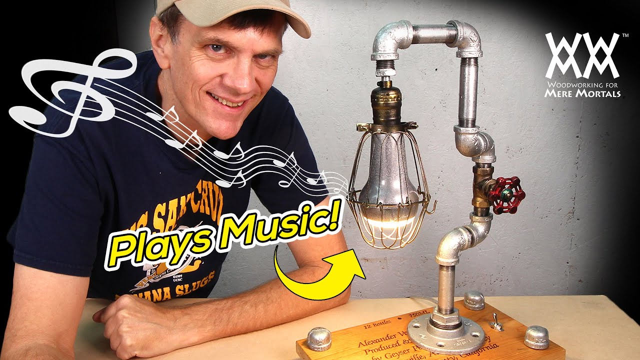 DIY Steampunk Lamp Plays Music  ART  DESIGN