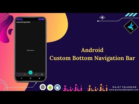 Custom bottom navigation bar android