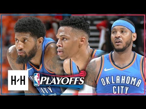 OKC Thunder BIG 3 Full Game 3 Highlights vs Jazz 2018 Playoffs - Westbrook, Paul George & Carmelo