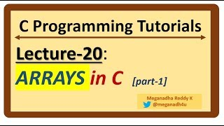 C-Programming Tutorials : Lecture-20 -
