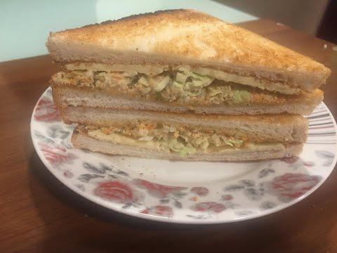 Chicken Salad Sandwich With Cheddar Cheese
