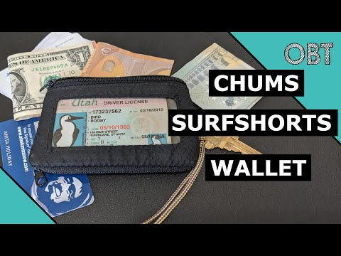 Chums Surfshorts Wallet Review - Minimalist Travel Wallet