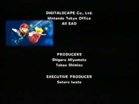 Super Mario Galaxy: Credits and 120 Star Secret ending ...