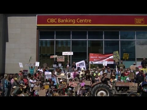 Penticton BC March against MONSANTO for labeled Genetically Modified Foods  ☢☢ 001