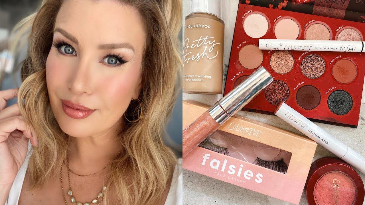Summer Makeup Tutorial Using Colourpop w/NEW Pretty Fresh Foundation | Good For Oily Skin?