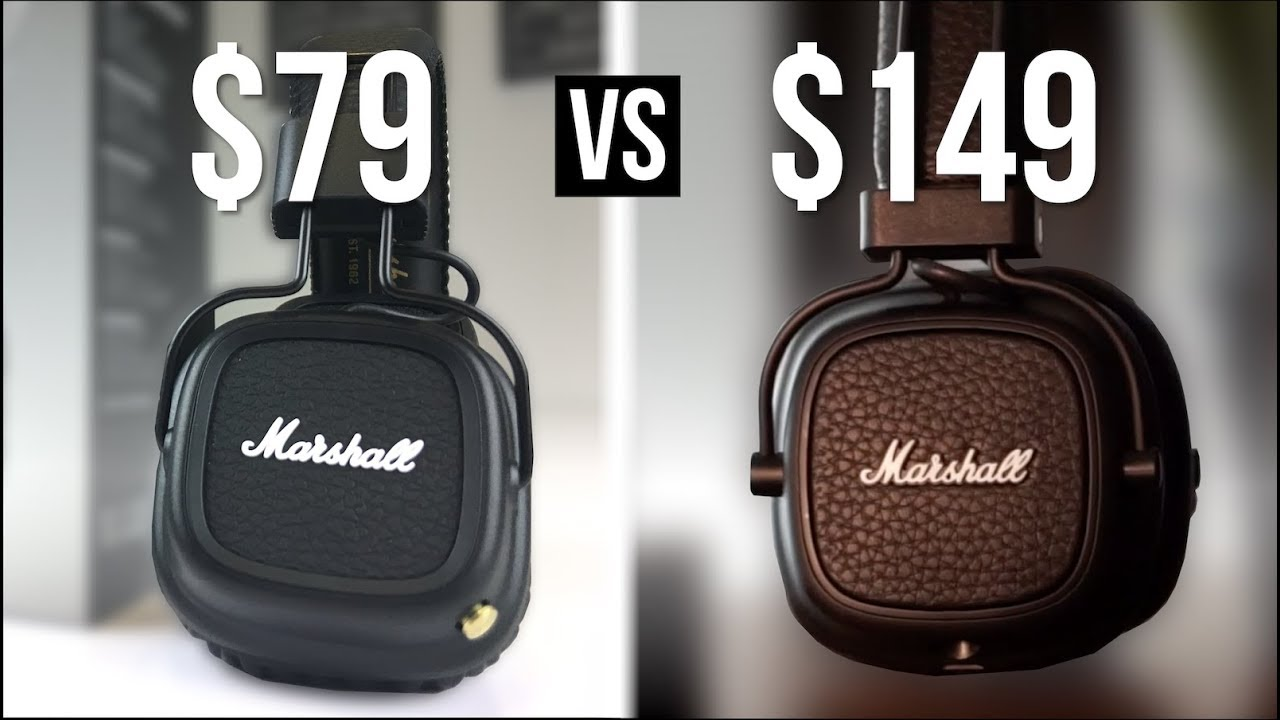 79 Marshall Major 2 Bluetooth Vs 149 Major 3 Bt Youtube