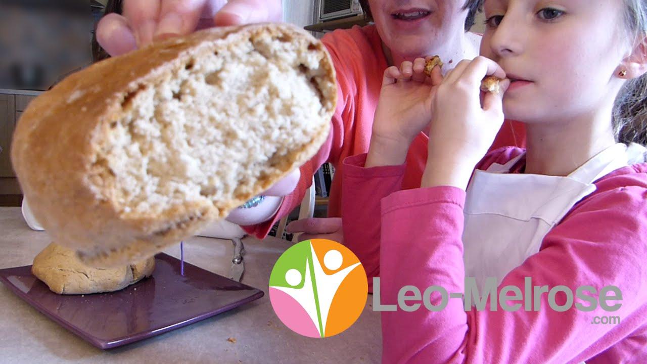 Recette de pain maison sans levure boulanger cuisson au four youtube - Recette pain sans levure ...