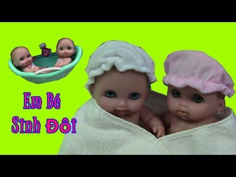 """🙏Tắm Cho 2 Búp Bê  Em Bé Sinh Đôi Mới """"Cực Cute - Cực Dễ Thương"""" 🙏 Twins Baby Doll Bath Time"""