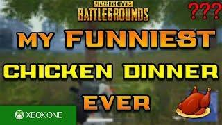 My FUNNIEST Chicken Dinner EVER! - PUBG Xbox One