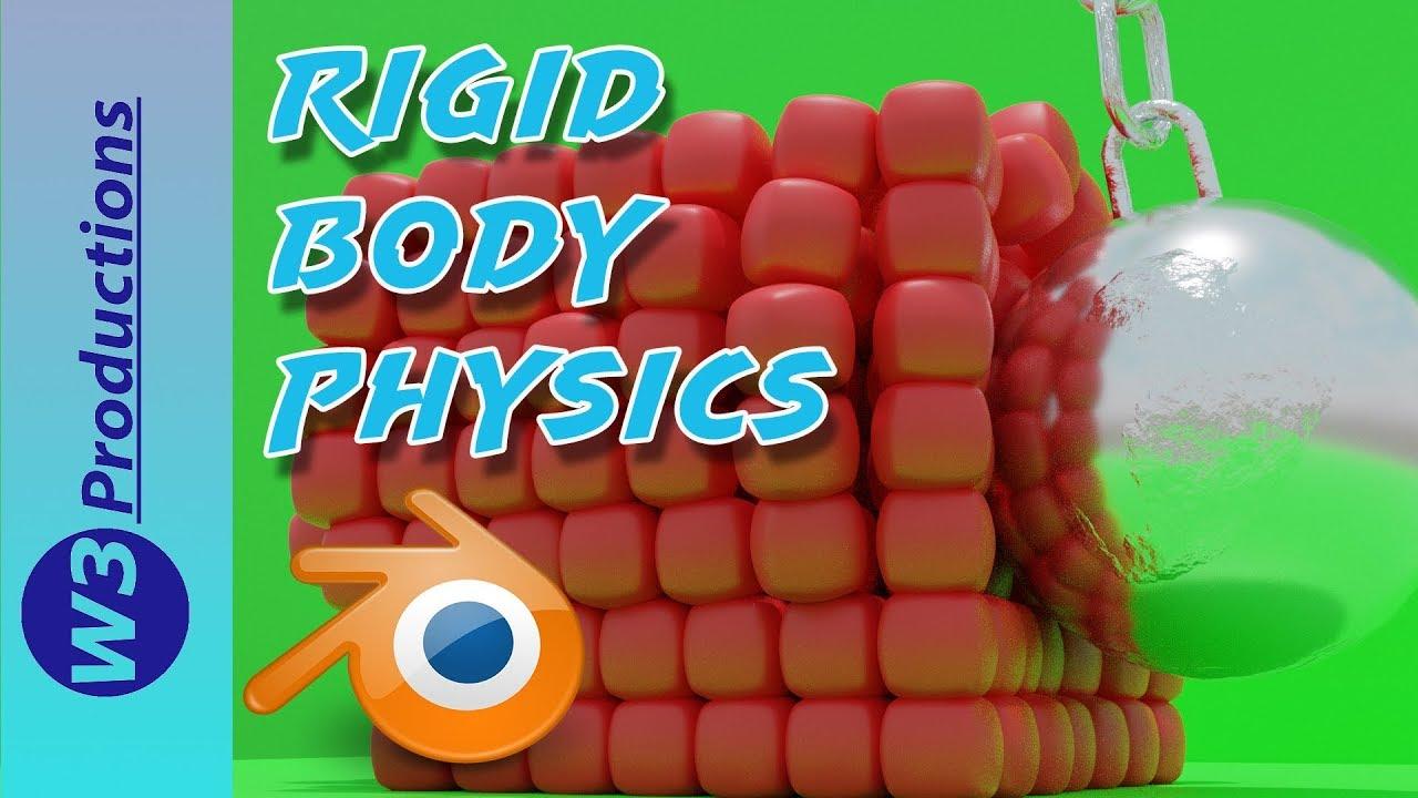 Blender Rigid Body Physics In Blender 2.8 Tutorial