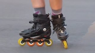 Как быстро научиться тормозить на роликовых коньках: Т-стоп. Урок 25