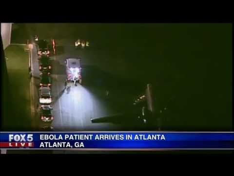 Texas healthcare worker arrives in Atlanta for Ebola treatment