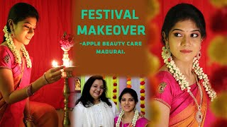 Festival Makeover || Self Makeup Tips For Practice || Day to Day Makeup || Apple Beauty Care.