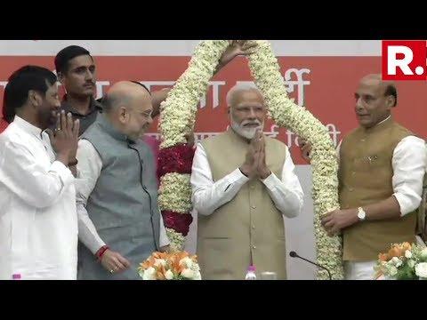 PM Narendra Modi Meets NDA Ministers At BJP Headquarters In New Delhi