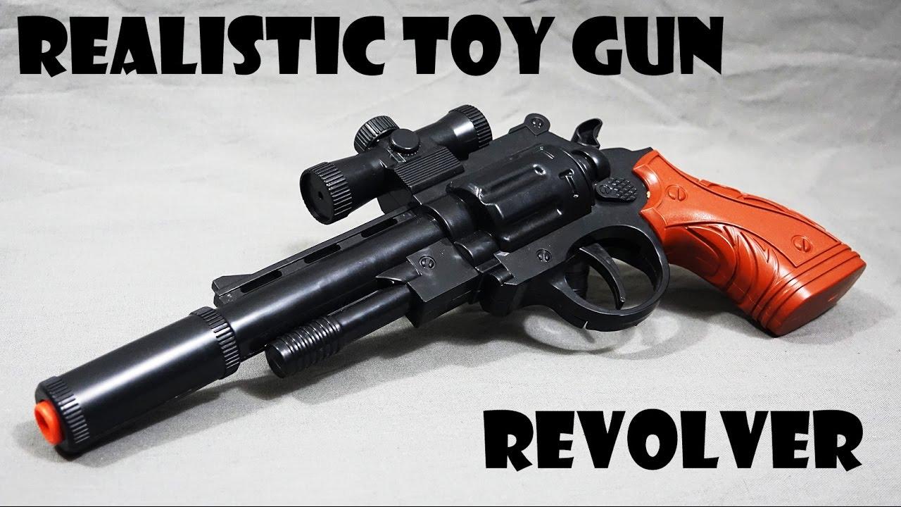 Toy Gun Zombie Revolver Realistic 1 1 Scale Rubber