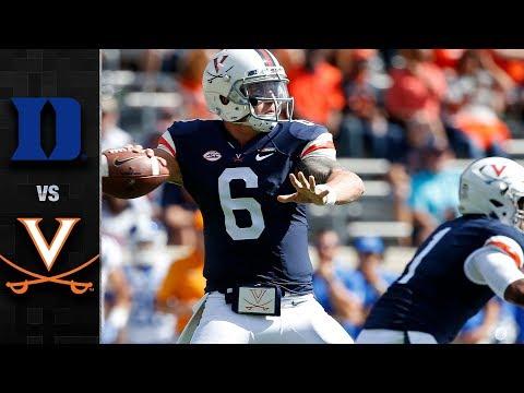 Duke vs. Virginia Football Highlights (2017)