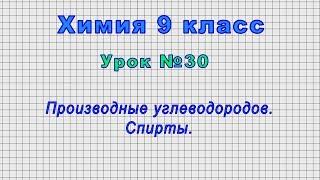 Химия 9 класс (Урок№30 - Производные углеводородов. Спирты.)