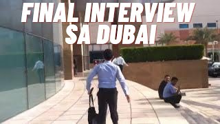 PINOY FINAL INTERVIEW SA DUBAI (vlog)