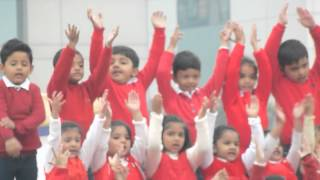 Veer performing in Welcome Song for Rhapsody 2014 Annual day Function at School