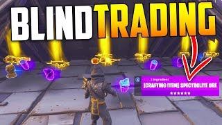 Blind Trading With The RICHEST Player EVER! *MUST SEE* - Fortnite Save The World
