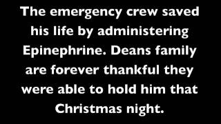 Anaphylaxis Emergency Call 000 - Deans Story