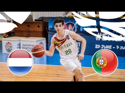 Netherlands v Portugal - Full Game - Game 9-16 - FIBA U20 European Championship Division B 2018