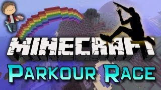 Minecraft: PARKOUR RACE! w/Mitch, Jerome & Ian!