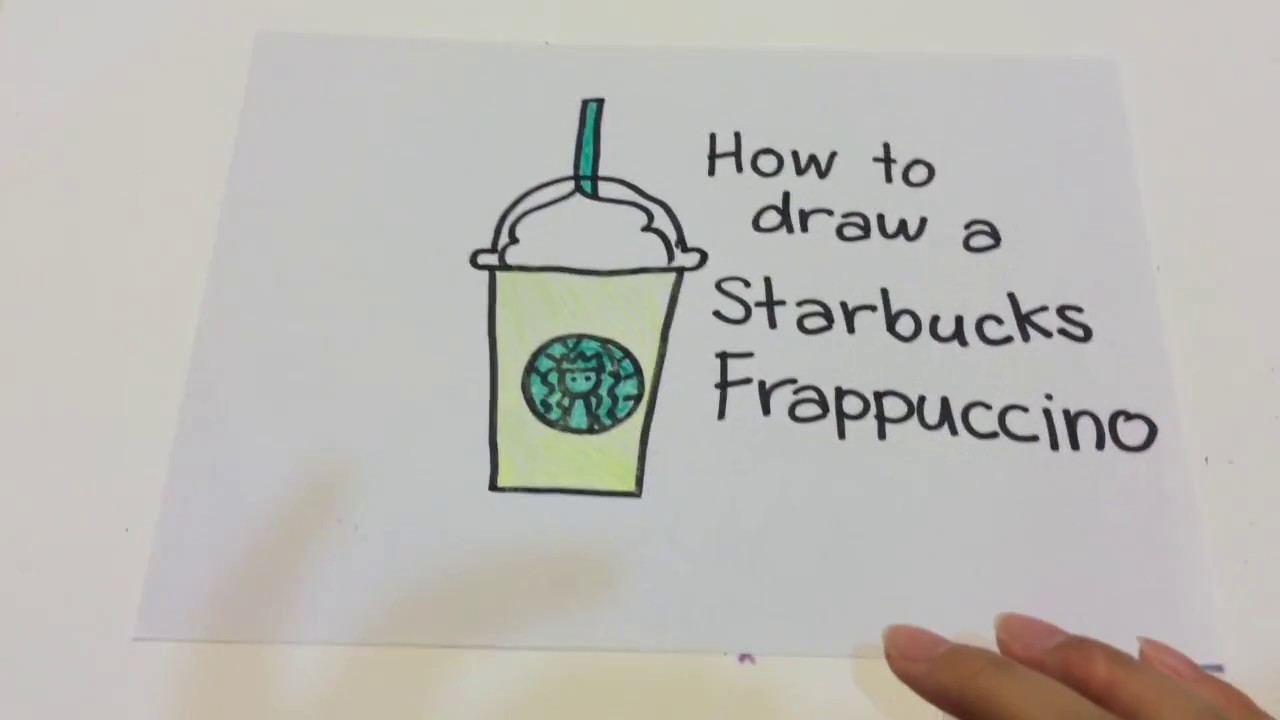 How To Draw A Starbucks Frappuccino