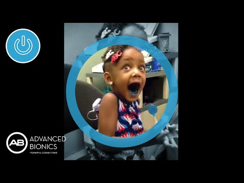 Little Girl Hears For The First Time With Her Cochlear Implant - Little girls reaction to seeing her parents clearly for the first time is adorable