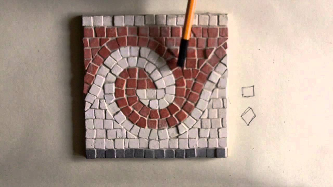 Wave border pattern roman mosaic kit youtube for How to draw mosaic patterns