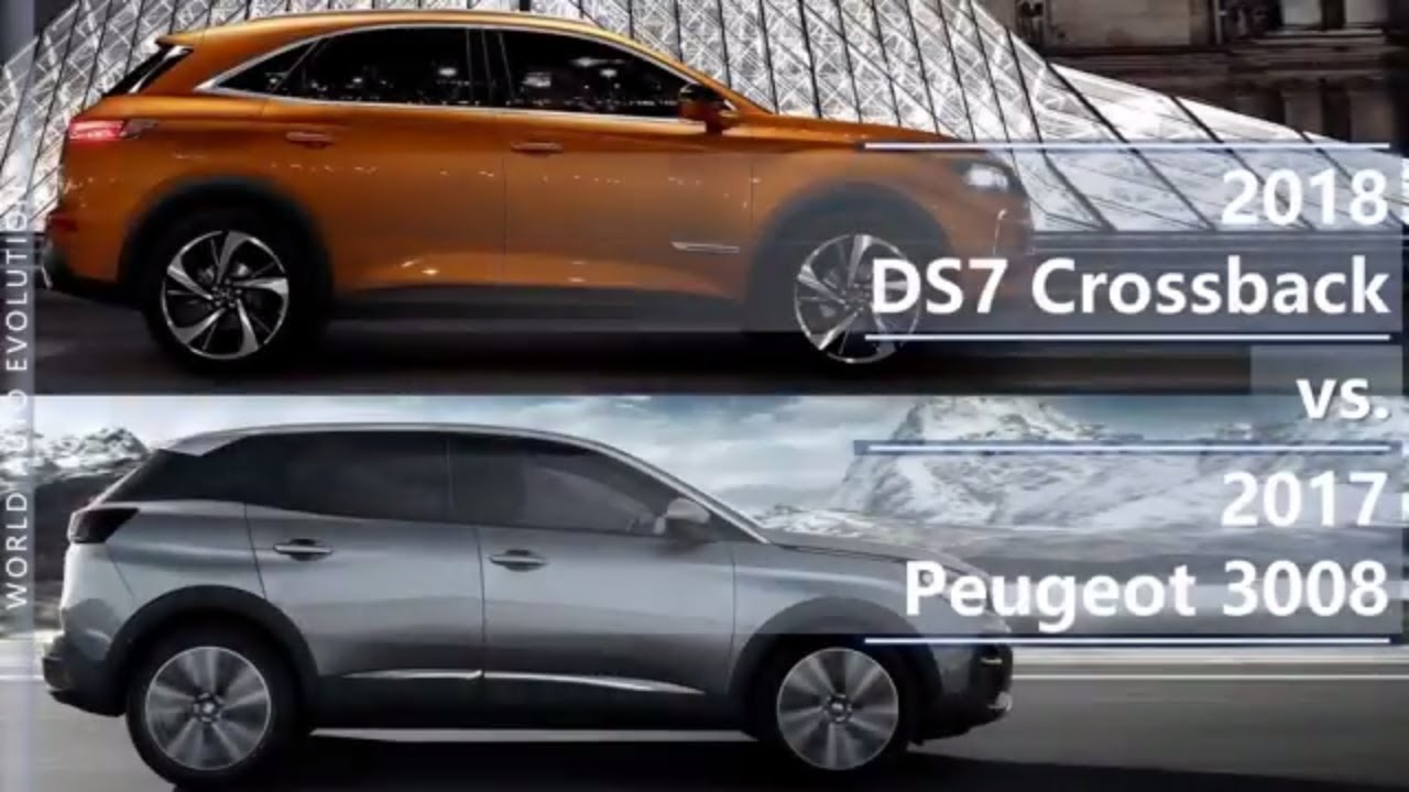 2018 ds7 crossback vs 2017 peugeot 3008 technical comparison. Black Bedroom Furniture Sets. Home Design Ideas