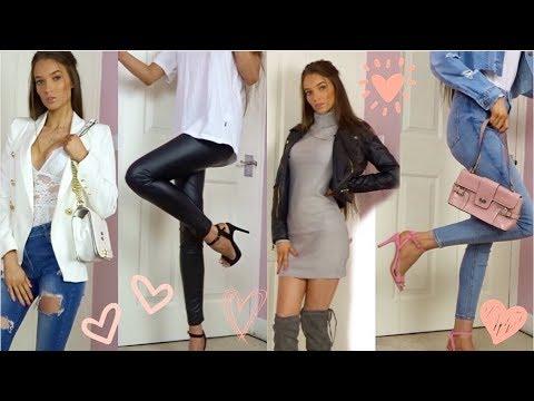 [VIDEO] - AUTUMN/WINTER CASUAL NIGHT OUT LOOKBOOK!! // jeans&a night top lookbook!! 2