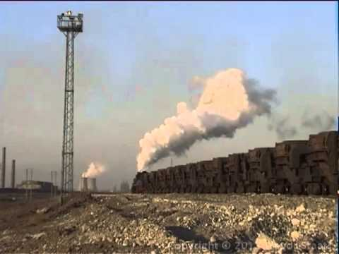 Chinese Steam: Baotou Steelworks - Jan 2001