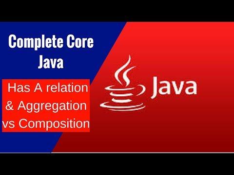 Complete Core Java - Has A relation & Aggregation vs Composition