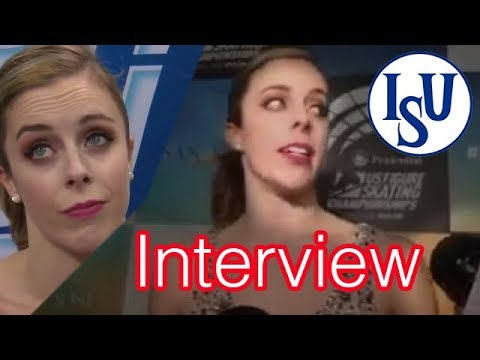 Ashley Wagner US Nationals 2018 FS Interview NBC FURIOUS