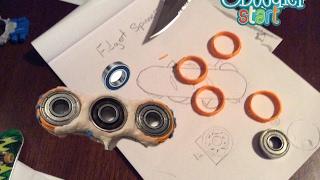 Tutorial: How to make fidget spinner using 3Doodler start