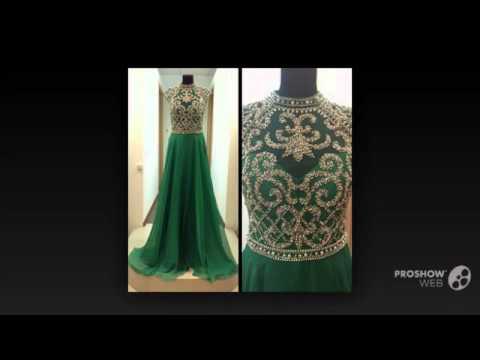 Изумрудно зеленый длинные платья пром вечерние платья бисероплетение шифон плиссированные
