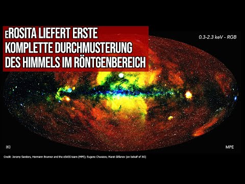 eROSITA liefert erste komplette Durchmusterung des Himmels im Röntgenbereich